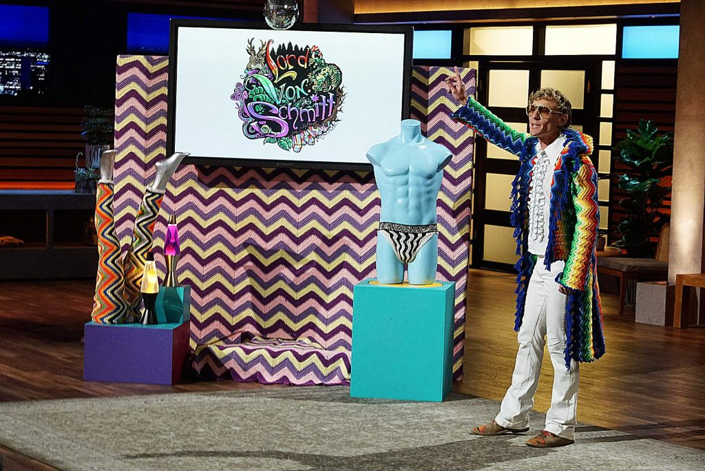 A pair of entrepreneurs from Mesa, Arizona, hope to sell millennials on a modern version of a fading fashion trend for men. An eccentric crafter from Nevada City, California, pitches the Sharks on investing in his far-out textiles brand. A father from North Hollywood, California, showcases his clothing design which helps to comfortably bring dads and their babies closer together, while a husband and wife from Exeter, Missouri, have a solution to one of childhood's messiest milestones, on
