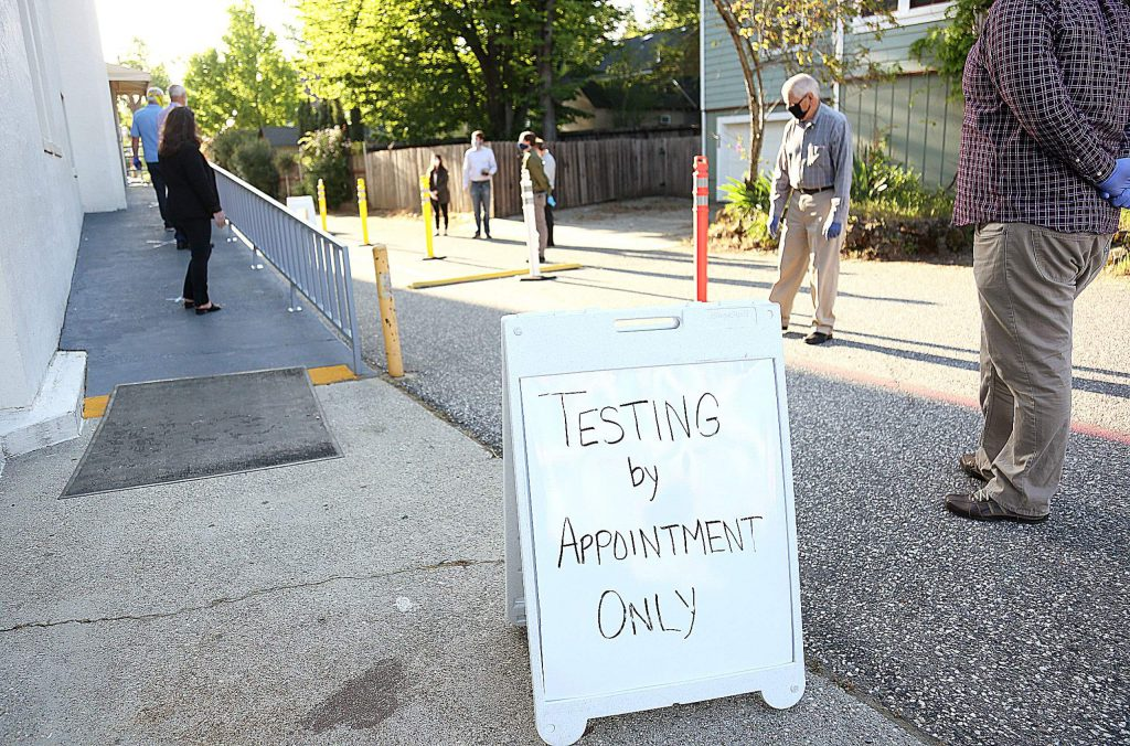 Appointments for coronavirus testing at the Grass Valley Veterans Memorial Building can be made by calling 1-888-634-1123 or visiting https://lhi.care/covidtesting.