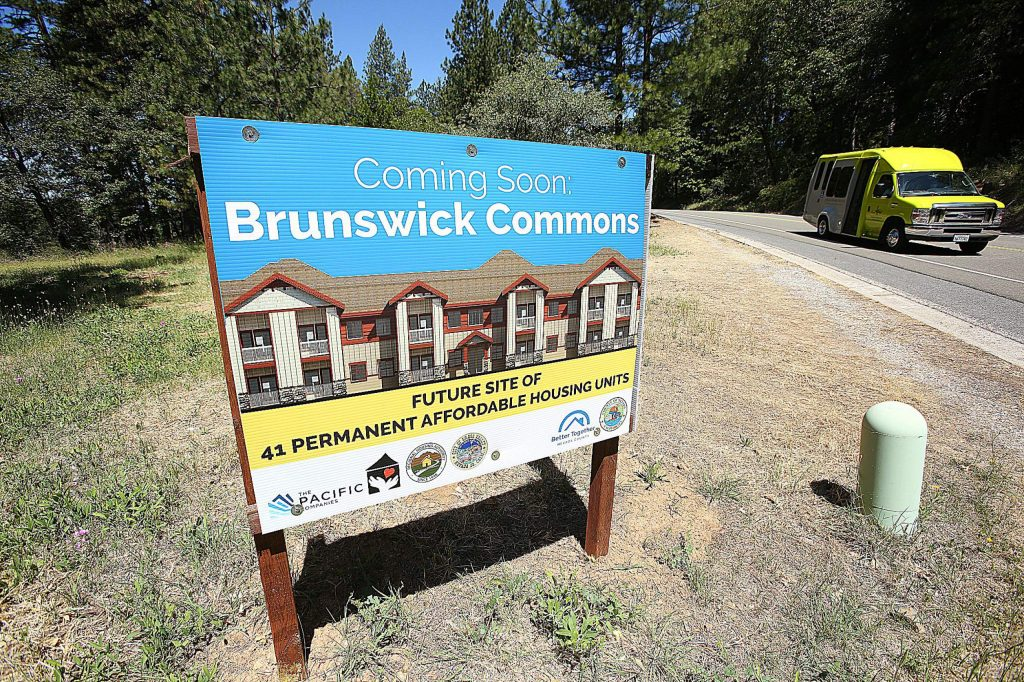 A sign promoting the future Brunswick Commons project has been erected at the future site of the complex along the 900 block of Old Tunnel Road in Grass Valley.