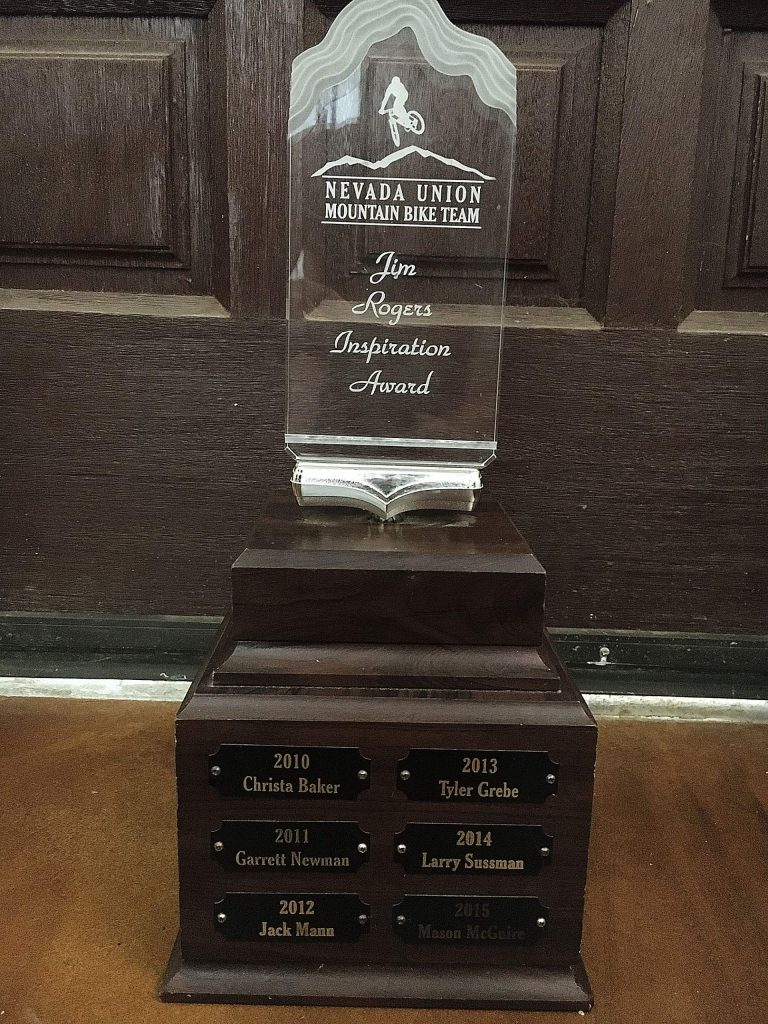 The Jim Rogers Inspiration Award is given annually.