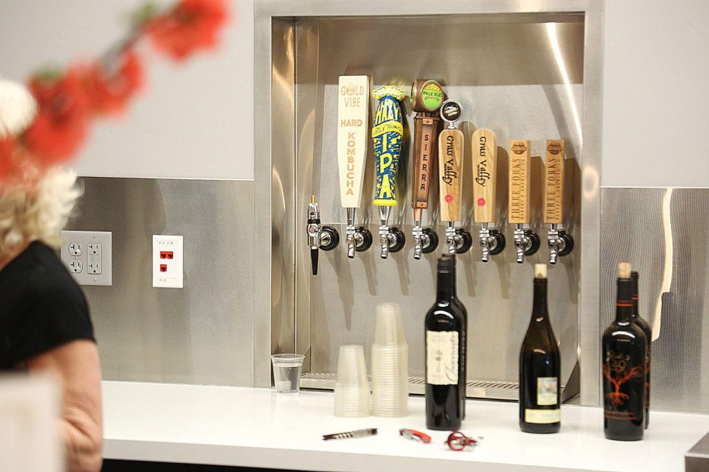 Beer and wine are ready to be poured at Grass Valley's Center For the Arts and their newly expanded concession and lobby area.