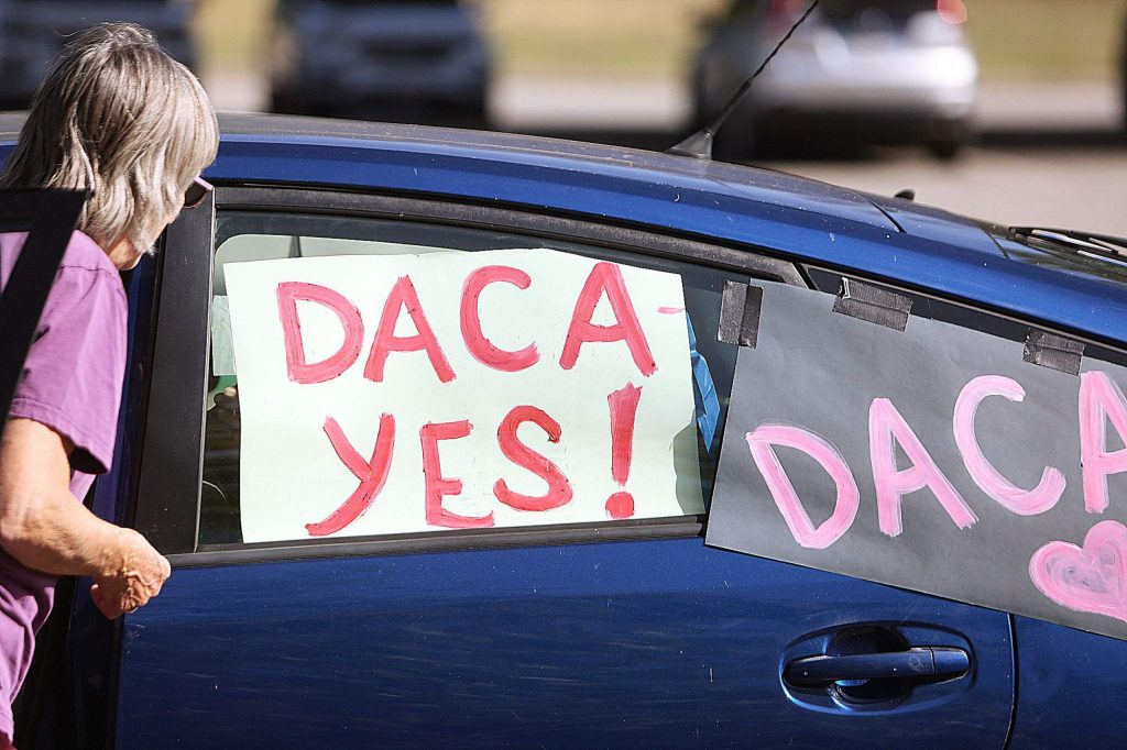 A handful of Nevada County residents on Thursday celebrated the Supreme Court's decision on DACA, or the Deferred Action for Childhood Arrival program, that President Barack Obama initiated.