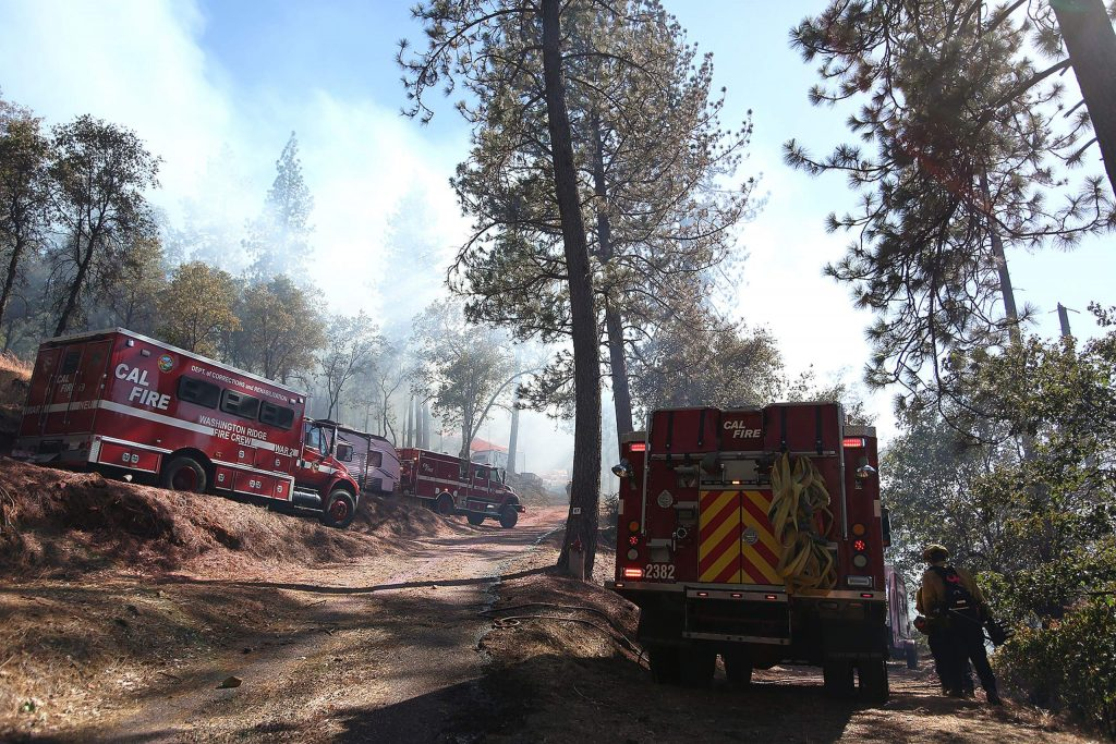 Firefighters from multiple agencies were quick to attack a vegetation fire that started near the Penn Valley community of Lake Wildwood Monday afternoon. The fire was kept to less than 10 acres with no structural losses.