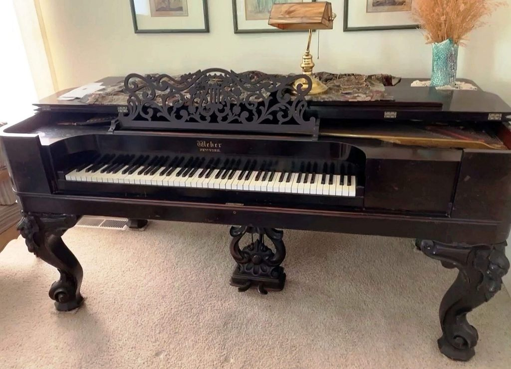 An antique Weber Square Grand Piano built in the mid-1800s was donated to the Holbrooke Hotel for the community to enjoy when the hotel reopens.