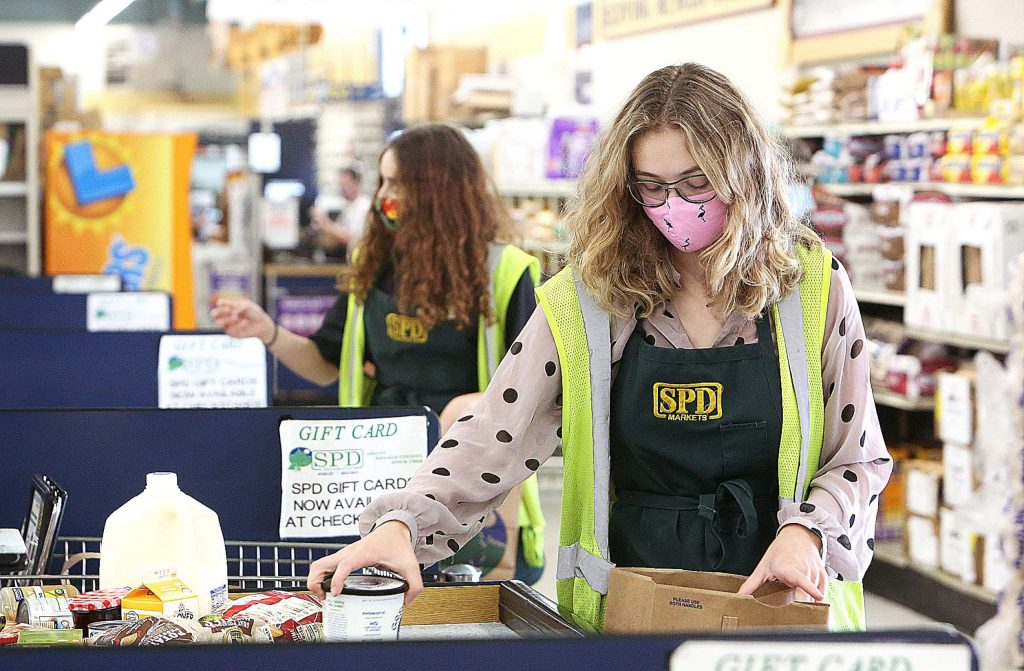 All employees at SPD in Nevada City wear face coverings over their mouth and nose.