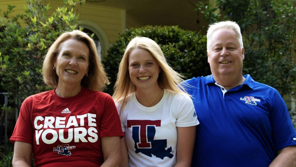Nevada Union graduate Faith Menary, middle, is set to attend and play volleyball for Louisiana Tech University in the fall. Faith is pictured here with her parents Jo Menary, left, and Dave Menary.