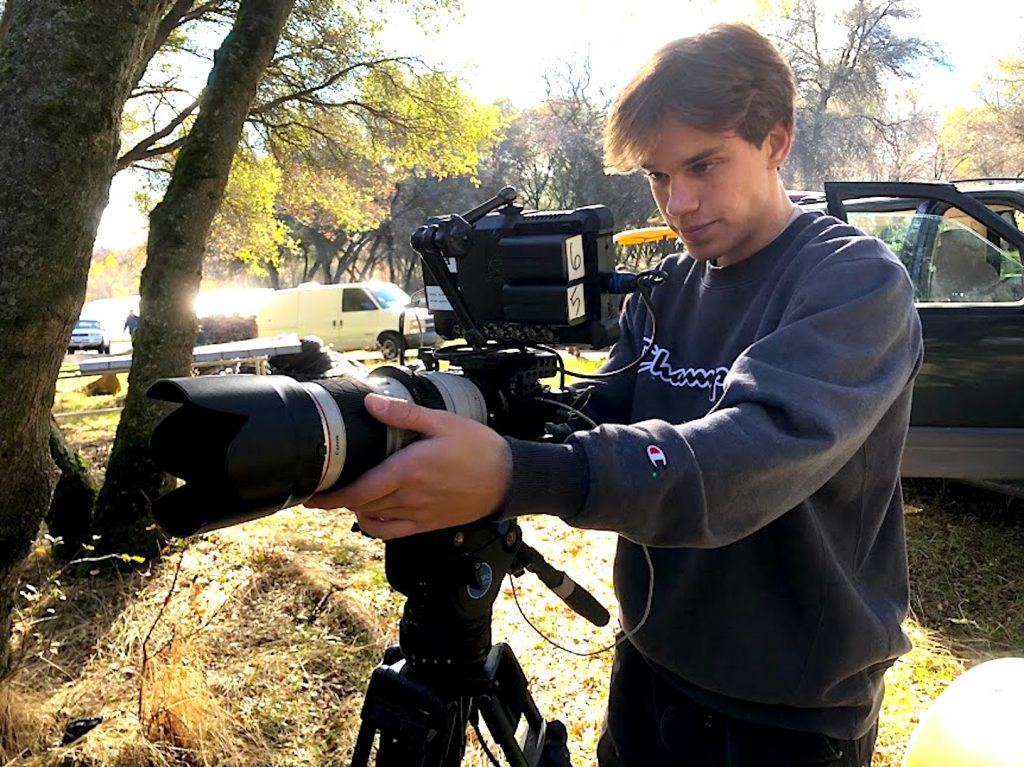 Nevada Union graduate Zed Friedman working on a film. Friedman held a 54-minute virtual film festival on April 5 by compiling a number of films he'd worked on over the past three years.