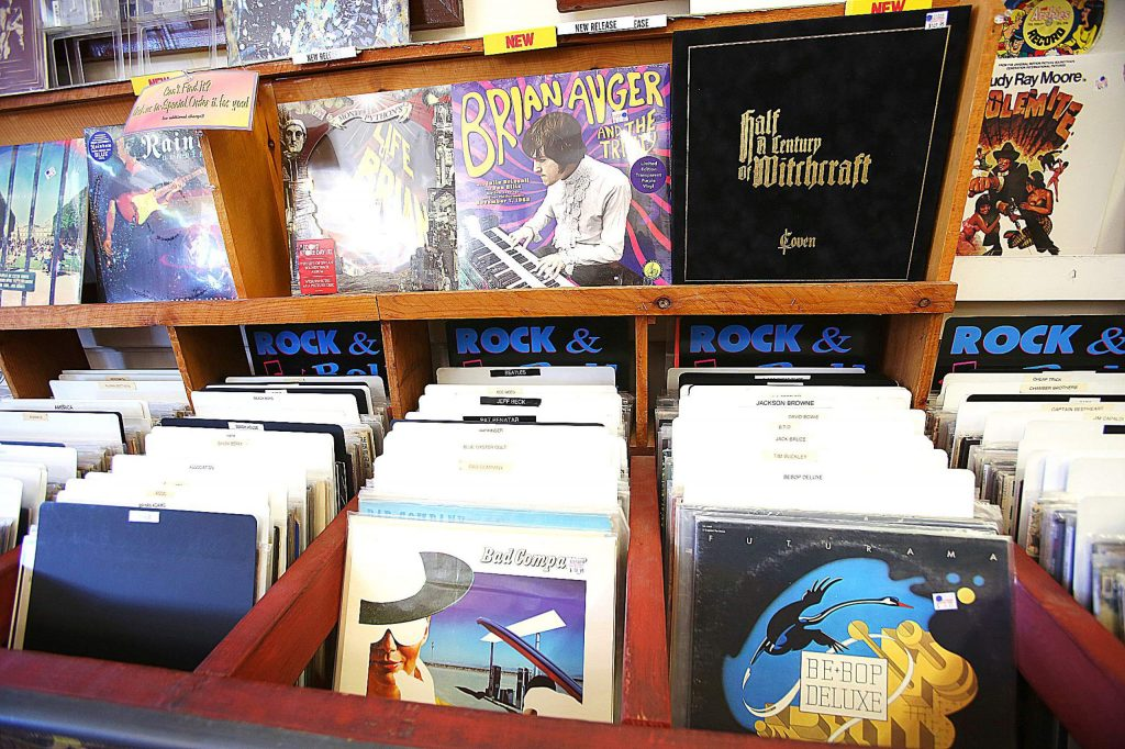 The fate of the large collection of music albums is unknown at downtown Grass Valley's Clock Tower Records. Owner Curt Smith is closing and offering the store for sale.