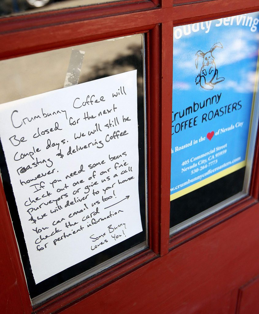 Crumbunny Coffee Roasters in Nevada City has still been roasting and delivering their product to keep their business afloat during these unsure times.