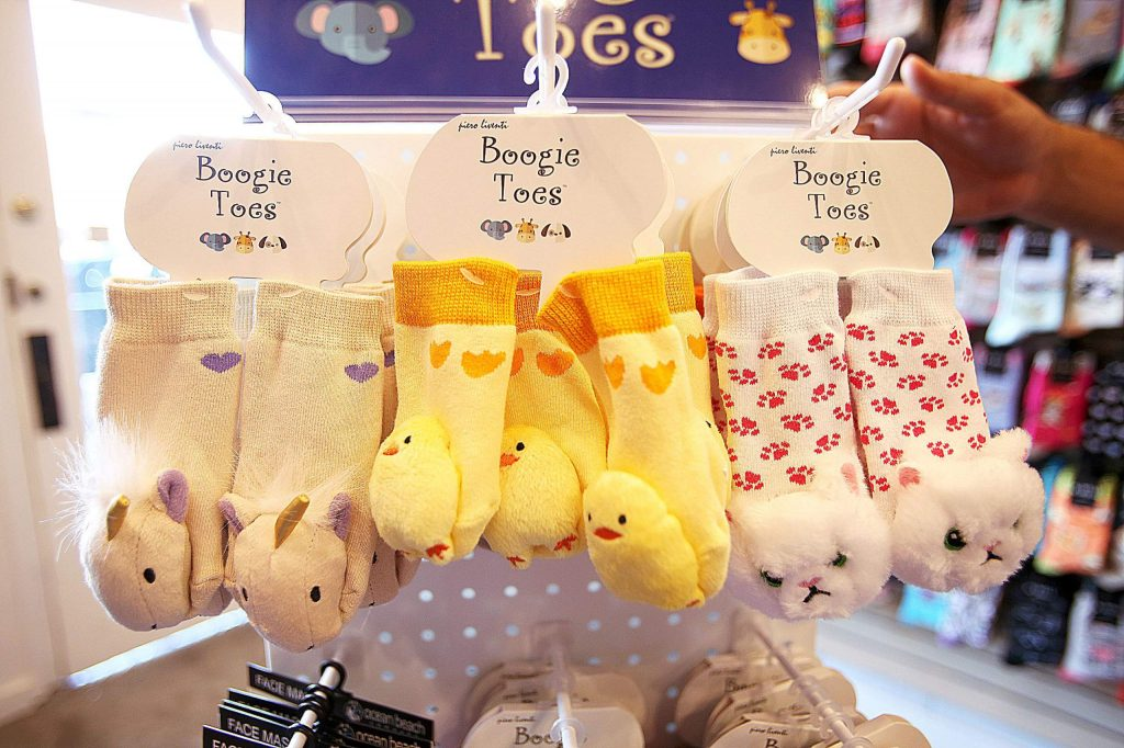 Boogie Toes for kids are also available at Mill Street Sock Company in Grass Valley.