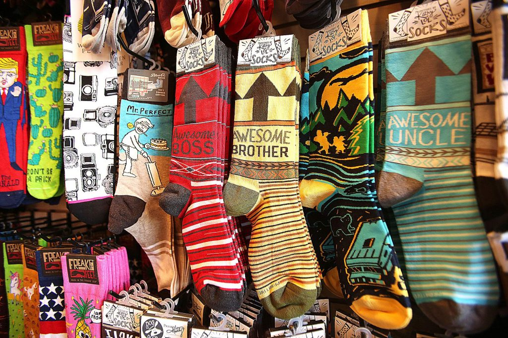 Socks for all members of the family can be found at Mill Street Sock Company in downtown Grass Valley.