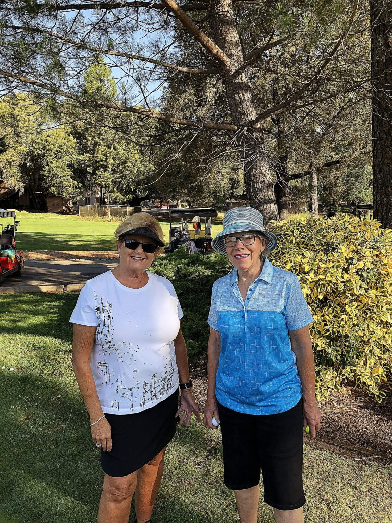 Barb Pearce and Judy Wood won the second flight at the Alta Sierra Women's Golf Club 27-hole Tournament.