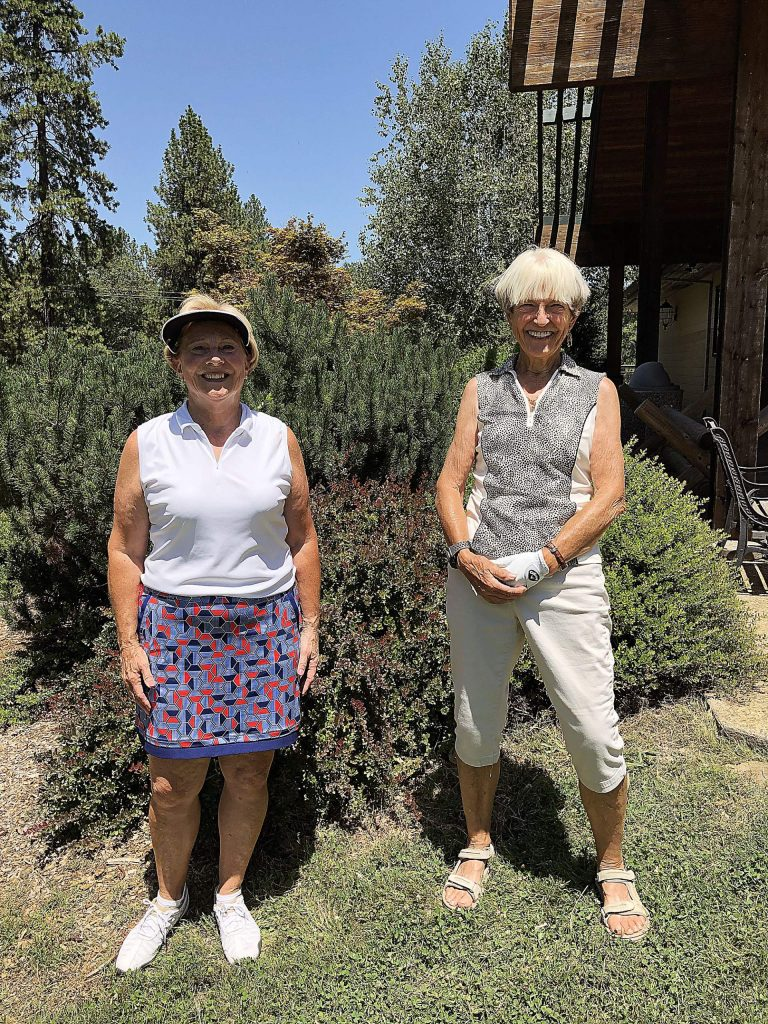 The overall winning team at the Alta Sierra Women's Golf Club 27-hole Tournament was Janet Barnes, left, and Maxine Cozby with a score of 156.