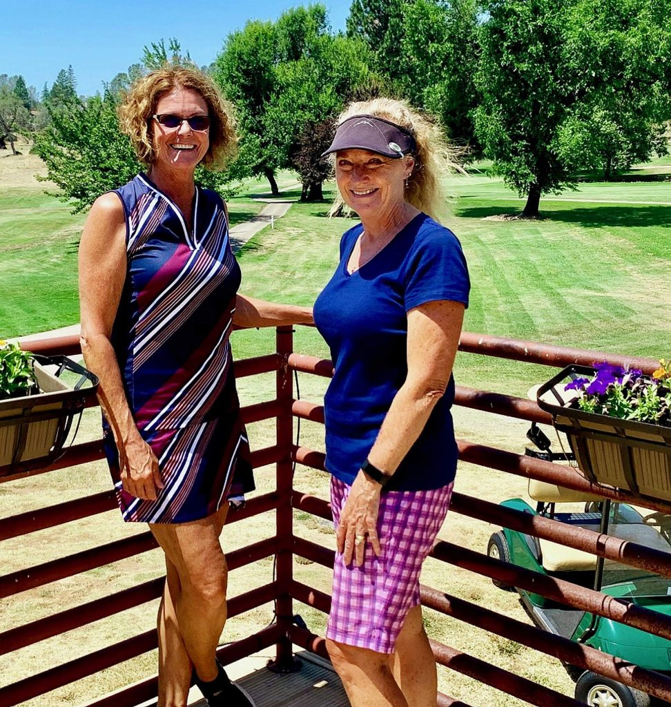 The Nine-Hole Group played a two-day, 18-hole event. First place went to Debbie Durkin and Genielle Odom.