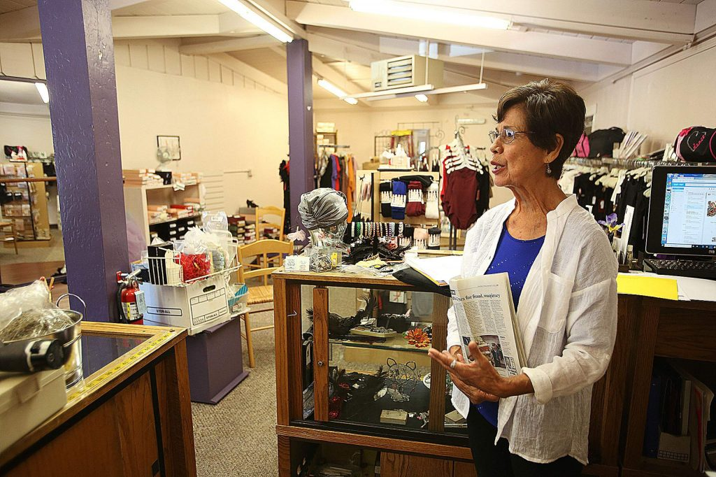 Delores Jones in her downtown Grass Valley dance wear store, Escott Place, which has recently closed after more than 20 years in business.