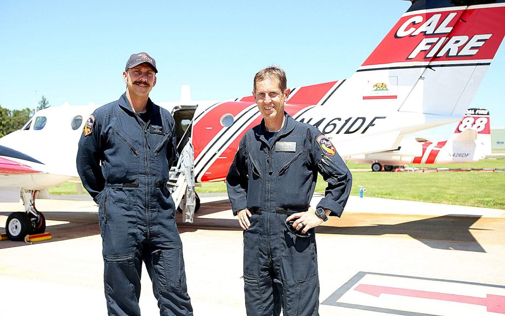 Though Cal Fire Captain Sean Ryan (left) and Battalion Chief David Krussow are new to their roles with Air Tactical Ground Support, the two are not new to firefighting and have extensive local experience with their boots on the ground.
