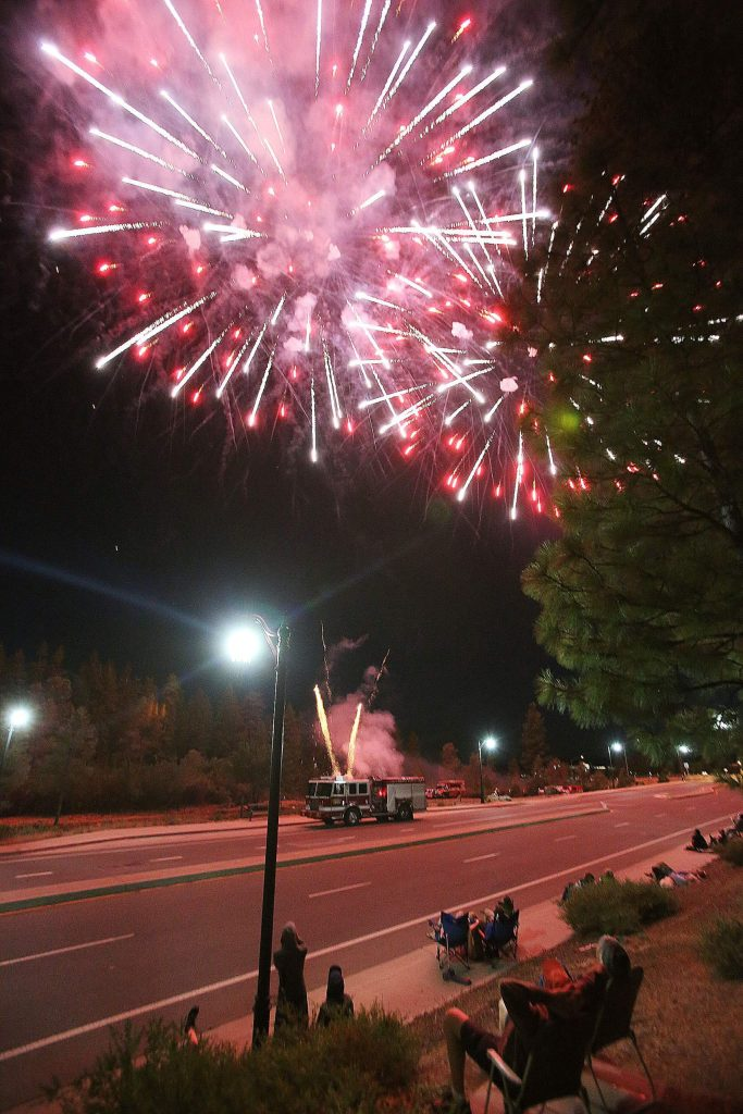 There was a heavy firefighter presence, including a fire hand crew, at the ready in the case of any fire resulting from the Grass Valley fireworks display.