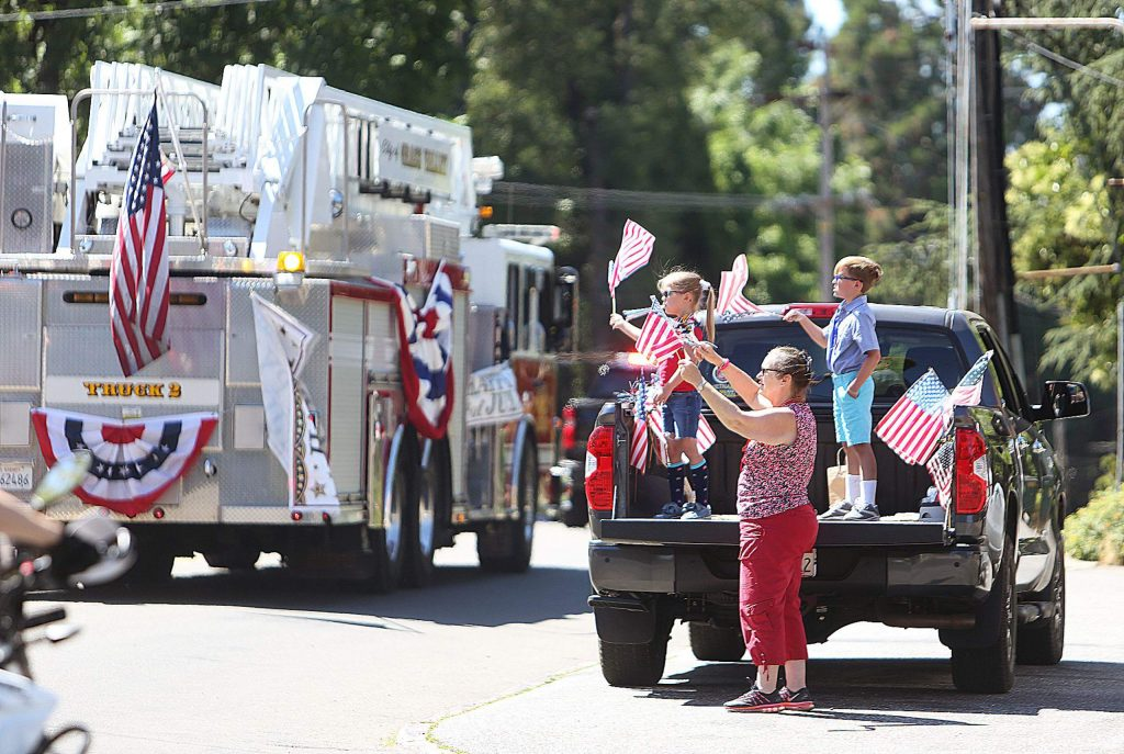 It wasn't the usual Fourth of July Parade to take place in Western Nevada County, but Saturday's parade was a welcome sight for folks who lined the streets for a showing of Grass Valley and Nevada City emergency and service vehicles.