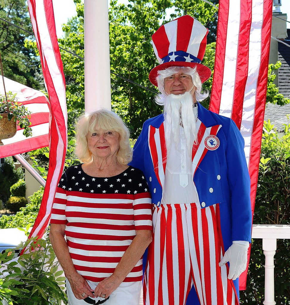 Dee and Greg Bulanti dress in their red, white and blue finery every Fourth of July holiday.