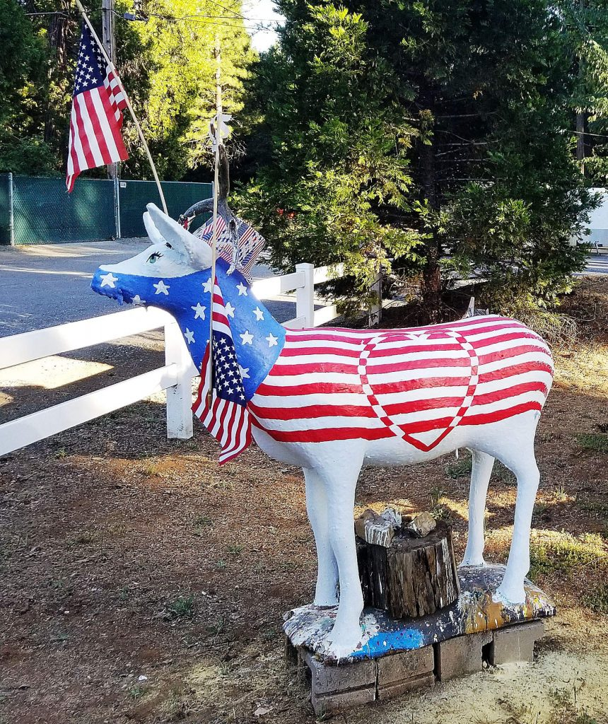 The latest deer décor of Donna Imsand's 15-year-long art project is a tribute to patriotism and the 4th of July.
