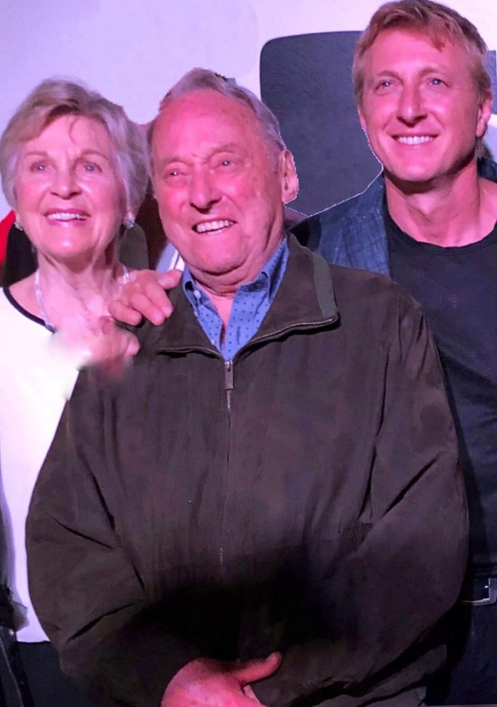 "From left, proud parents Nancy and Stan Zabka of Alta Sierra celebrate with son William ""Billy"" Zabka at a ""Cobra Kai"" screening in Los Angeles."
