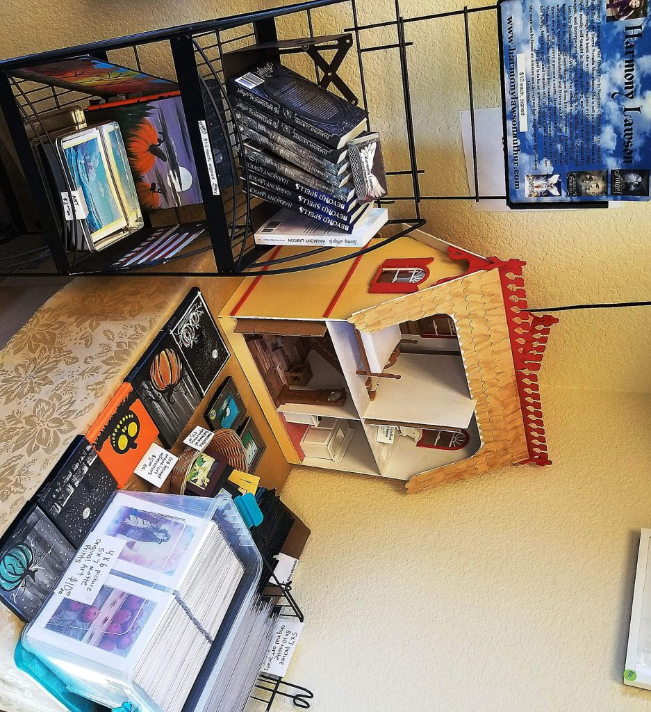 Candice Hecht of Grass Valley writes faith-based novels, crafts elaborate dollhouses, and paints intricate art with acrylics and watercolors.