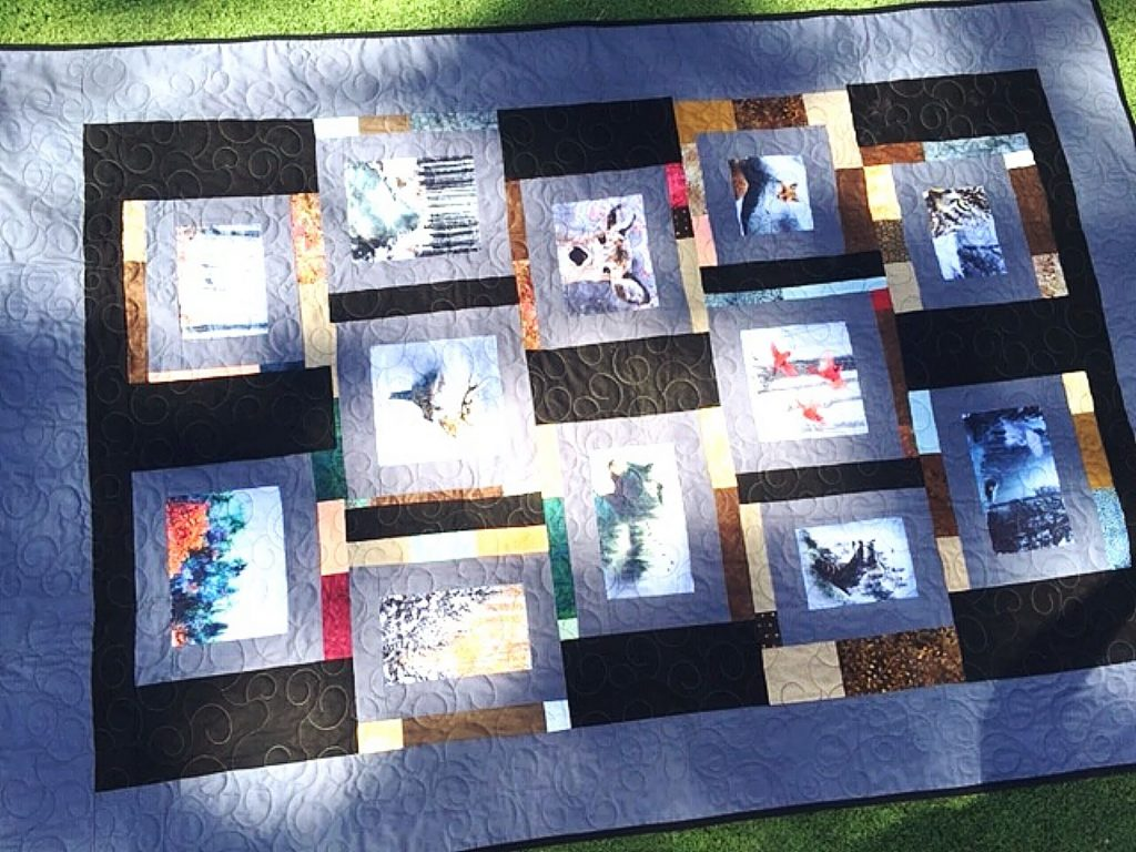 For the second consecutive year, Bette Gross created the quilt to be raffled off to raise money for the Washington Volunteer Fire Department.