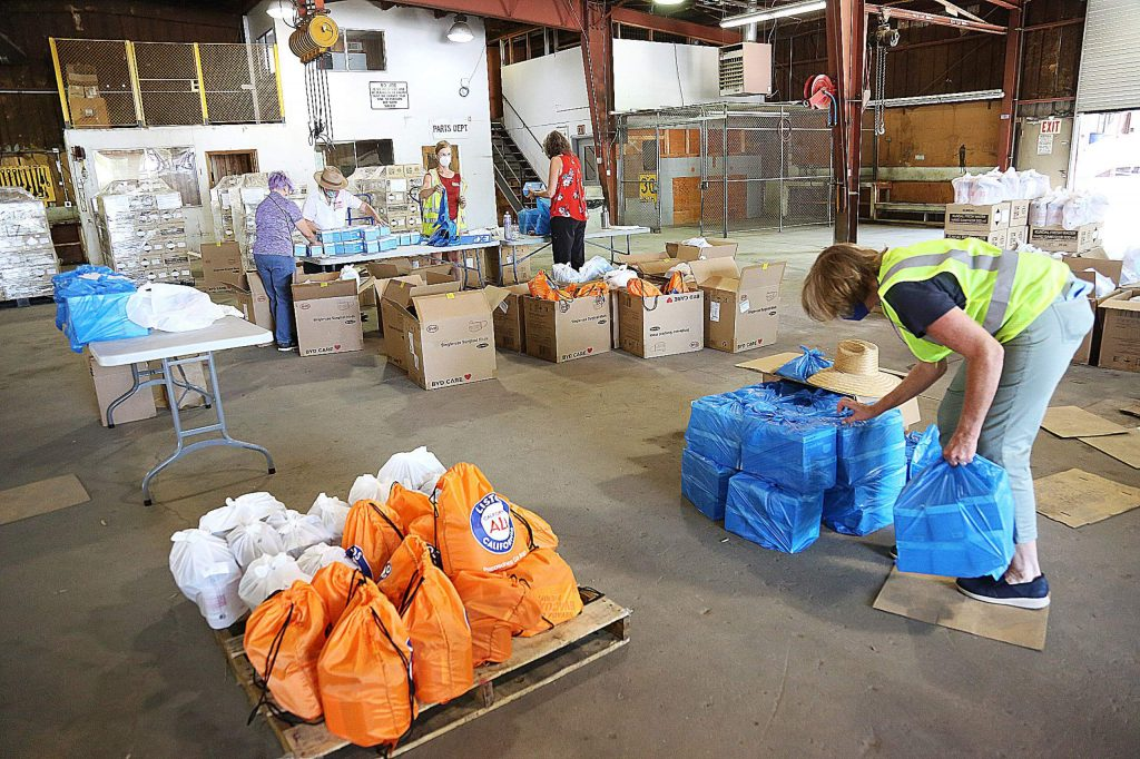 Over 150 volunteers from many different area organizations have stepped up to help with the three-day PPE distribution from the county property off Loma Rica Drive.