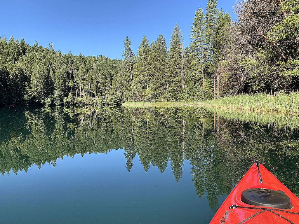 Kayaking at an undisclosed location near Nevada City.