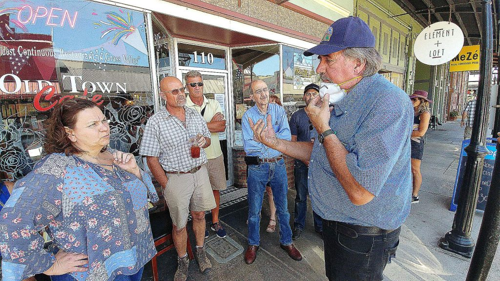 Congressman Doug LaMalfa, R-Richvale, spoke with a group of business owners and community members Tuesday in front of and inside Grass Valley's Old Town Cafe. The restaurant continued to serve dine-in customers despite the recent order from Gov. Gavin Newsom to pause indoor dining.