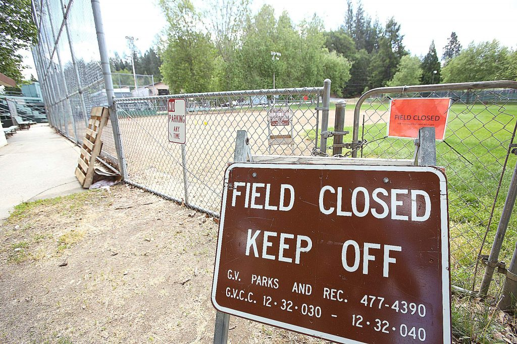 While some uses have been allowed to return to Grass Valley's parks, use of the softball fields has not, though local rec sports leagues are hoping they can use the fields soon.