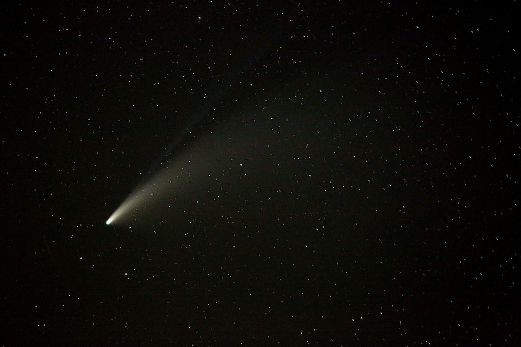 The tails of the comet Neowise are believed to be made up of sodium and ionized gas particles.