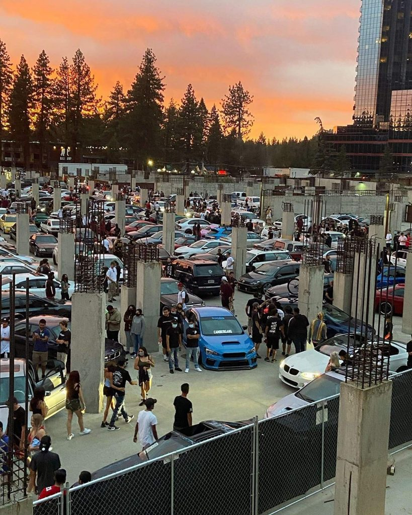 The Lake2o meet up brought in large crowds of people to a South Lake Tahoe parking lot.