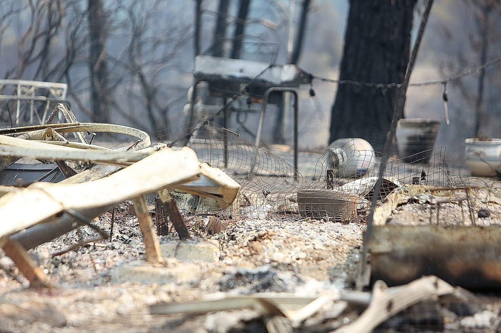 Not much is left in the ruins of the Cooke's rural Nevada City home where the Jones Fire tore through Monday. A GoFundMe has been established for the Cooke's and others that lost their homes and properties.