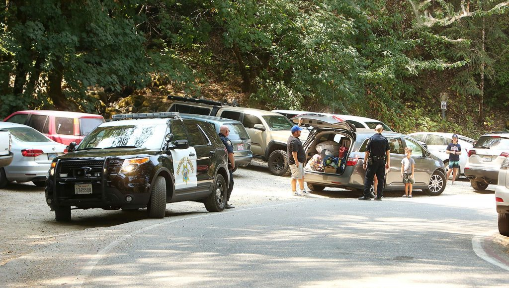 California Highway Patrol officers provided multiple verbal warnings Saturday at the South Yuba River's vehicle access points including Purdon, Edwards, Bridgeport, and the Highway 49 crossings.