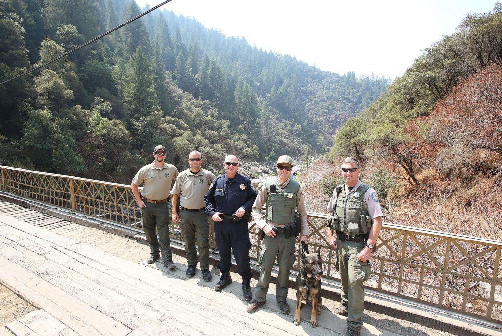 Members of the Nevada County Sheriffs, CHP, State Parks, Nevada County Consolidated FD and Cal Fire were all a part of Saturday's efforts to curtail illegal activities at the various South Yuba River access points.