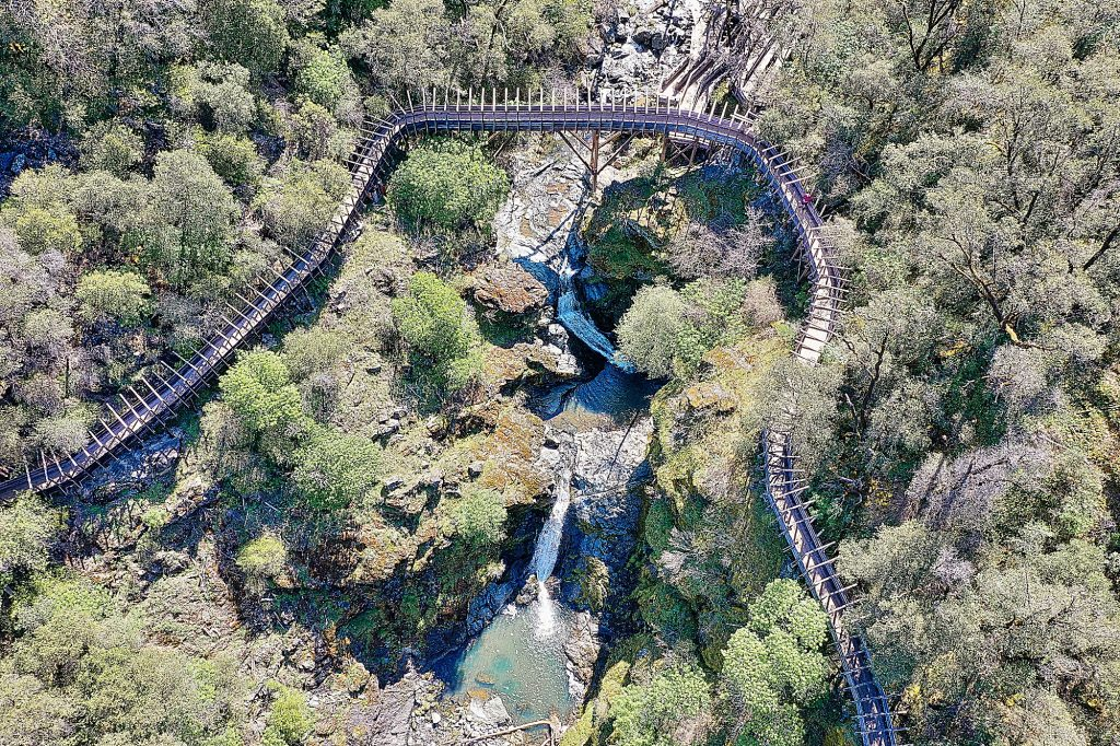 The wooden flume of the Independence Trail winds its way through the forested Yuba River canyon, above the waters of Rush Creek, in this photo submitted to The Union in April by photographer Steve Hillis.