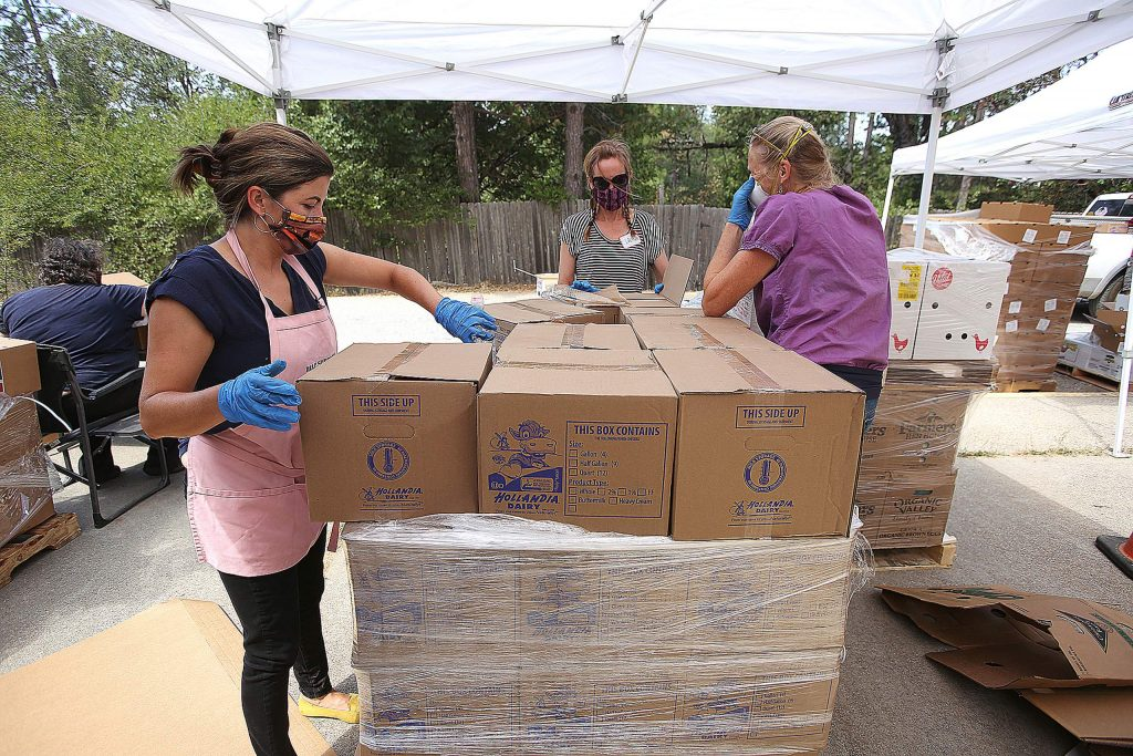 Pallets of Food Link food was distributed during Tuesday's food distribution on the San Juan Ridge.