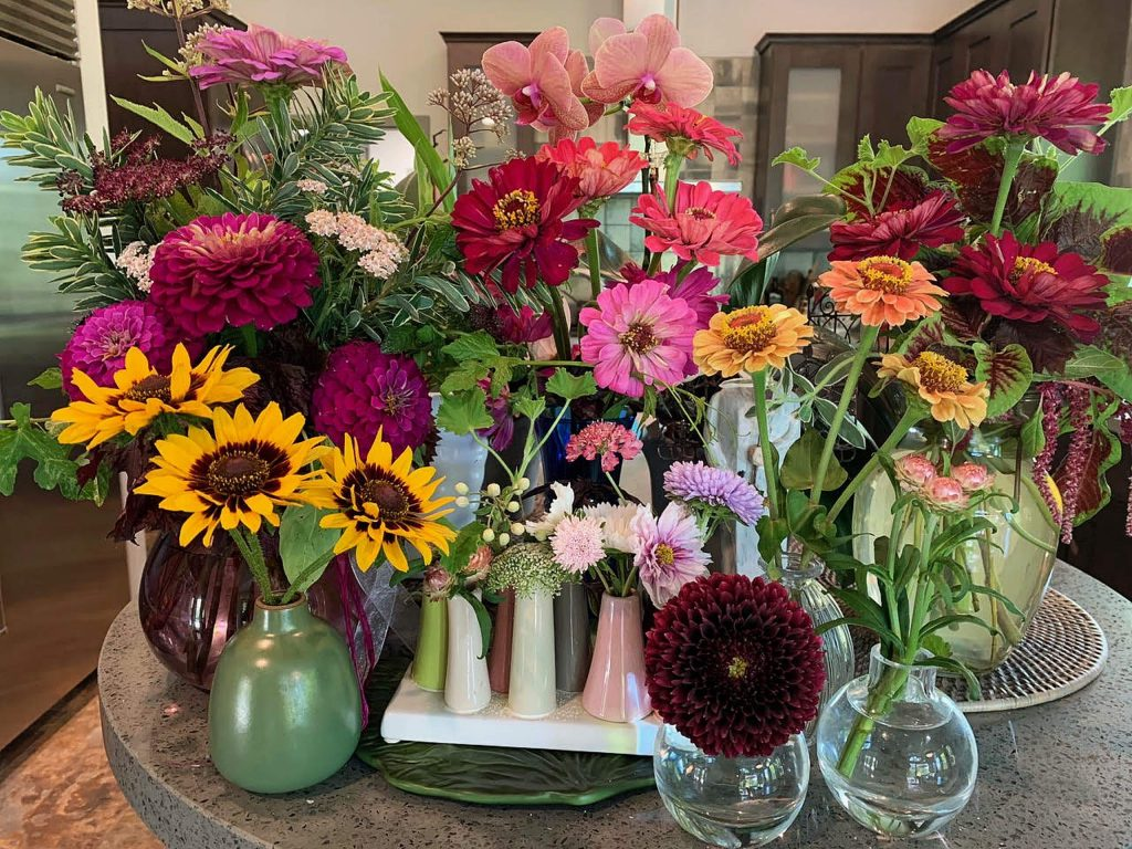 Flowers add so much beauty to a garden, offering a huge array of colors from nature's palate. Then bringing them indoors provides even more enjoyment.