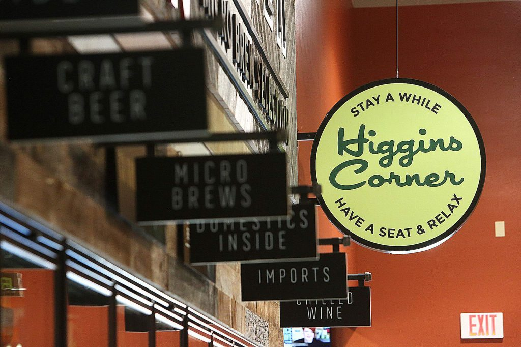 The new Higgins Corner Holiday Market features personalized signage and murals.