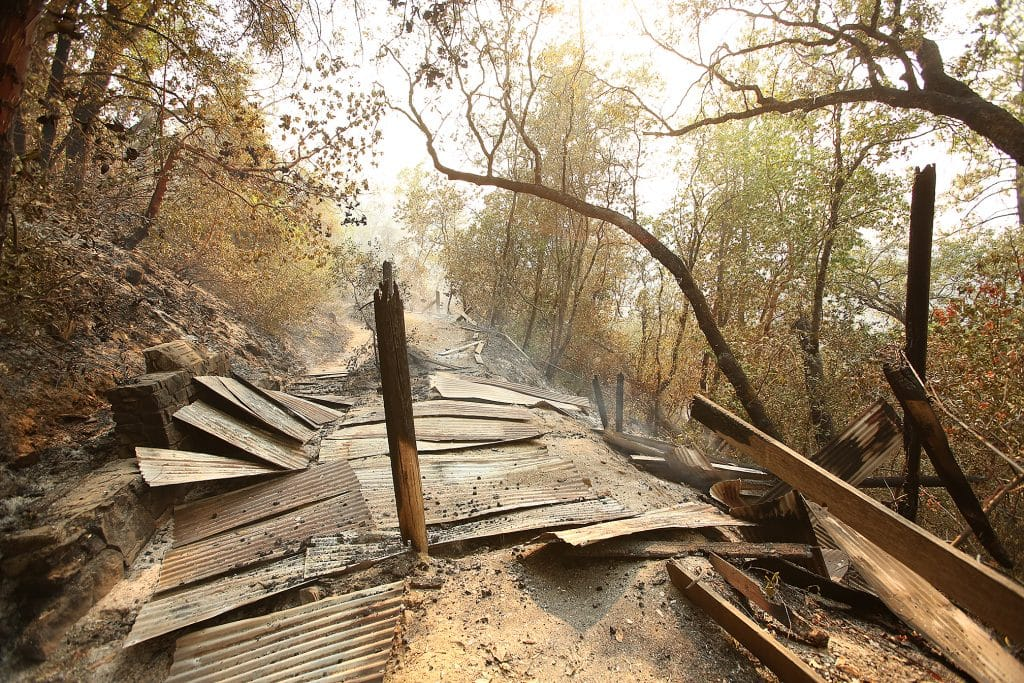 The covered South Yuba River overlook of the Independence Trail is just one of the many structures that have succumbed to the Jones Fire.