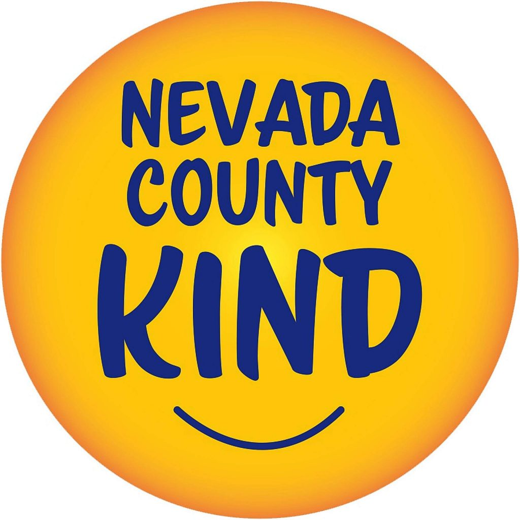 """Former Grass Valley Mayor Jason Fouyer started a Facebook page and is distributing smiley face stickers with the moniker """"Nevada County Kind"""" to raise community spirit and remind people to be kind to one another."""