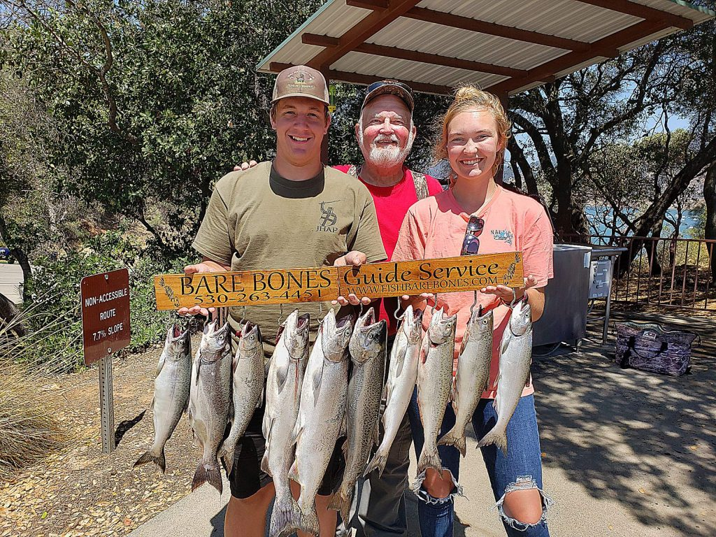 John Peplowski took Grandson Jack Papathakis and Jack's girlfriend, Jessica Jack to fish with Brett Brady (Bare Bones Guide Service) on Lake Oroville for King Salmon.