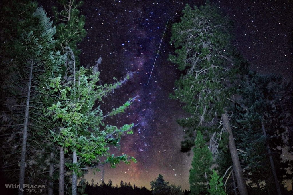Persied Meteor and The Milky Way. Photo captured by Wild Places Photography Wednesday night (August 12) outside of Nevada City.
