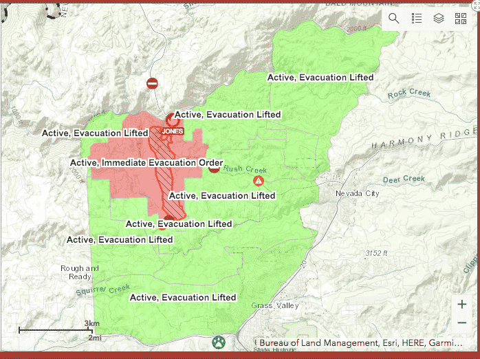 Evacuation warnings were lifted on August 20. Some mandatory evacuations still remain in place.
