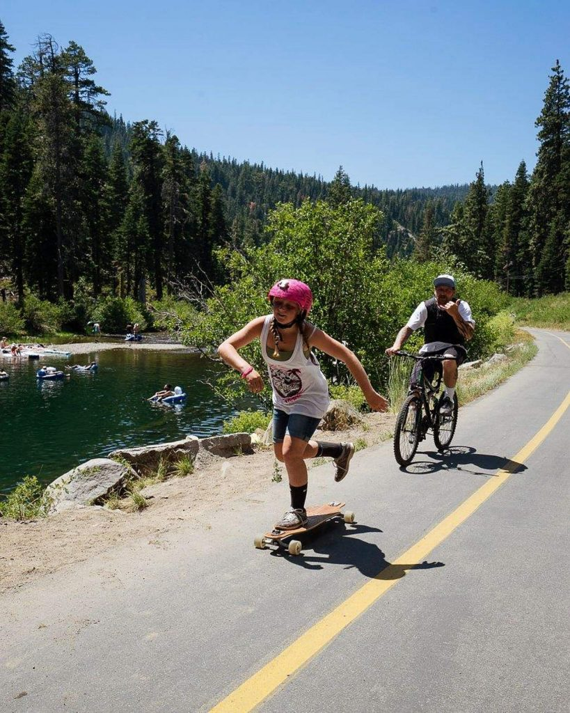 Instead of skating around Lake Tahoe's West Shore, participants are being encouraged to take to their local trails in an effort to raise $30,000 for Boarding for Breast Cancer's education, prevention, and survivorship programs.