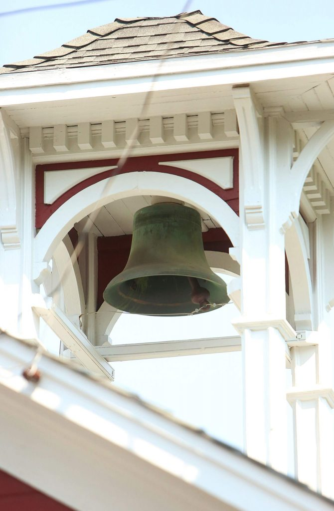 The bell atop the Race Street historic firehouse also known as Reliance Hose Co. No. 3, rang many times to honor the passing of former Chief John Straka beginning Saturday at 11 a.m.