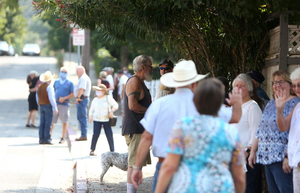 Race Street at South Auburn was lined with members of the community and family of the late Grass Valley Fire Department Chief John Straka, where a traditional bell ringing ceremony was held Saturday.