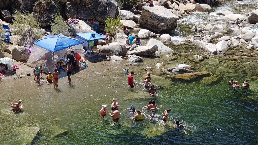 The South Yuba River at the Highway 49 bridge has seen a high number of visitors this year and is expected to be frequented heavily during the heat wave.