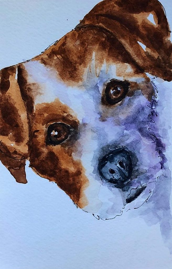 Barbara Wirth's whimsical, colorful pen and ink watercolor art called